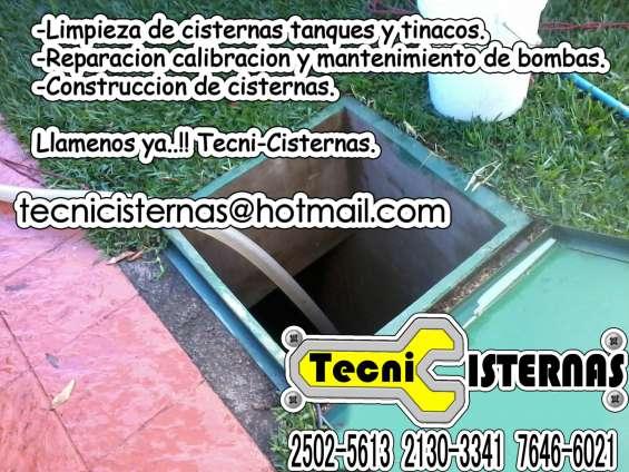 Construcción cisternas tapaderas metálicas.