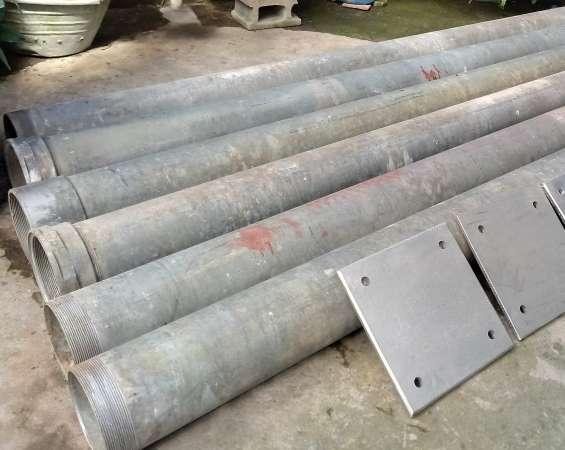 Vendo 6 tubos grandes galvanizados